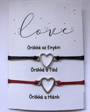Fekete-piros páros-szív medál