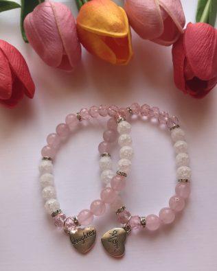 Pink crystal anya-lánya szett