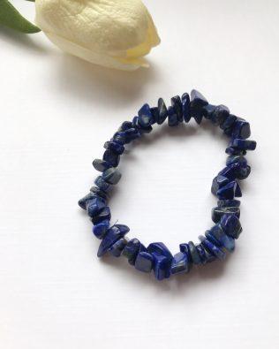 Lapis lazuli chips karkötő