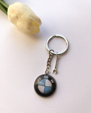 BMW logós kulcstartó
