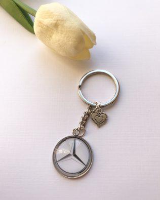 Mercedes-Benz logós kulcstartó