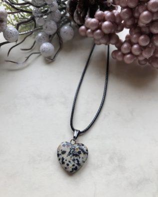 Dalmata jáspis szív medálos nyaklánc