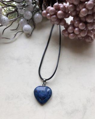 Lapis lazuli szív medálos nyaklánc