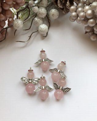 Rózsakvarc angyalka csomag (5db)