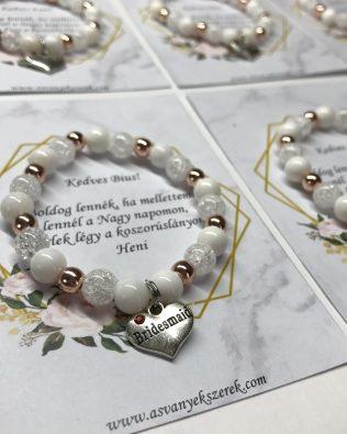 White-rose gold koszorúslány felkérő