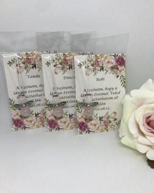 Rose and white angyalka – virágos kártyával