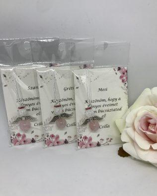 Rose and white angyal – pink kártyával